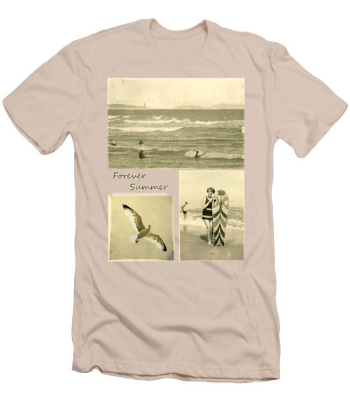 Men's T-Shirt (Slim Fit) featuring the photograph Forever Summer 3 by Linda Lees