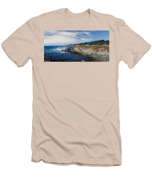 Fort Bragg Mendocino County California Men's T-Shirt (Slim Fit) by Wernher Krutein