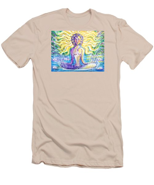 Men's T-Shirt (Slim Fit) featuring the painting Fountain Of Youth by Anya Heller