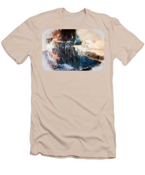 Men's T-Shirt (Athletic Fit) featuring the digital art Fountain Pleasure by Margie Chapman