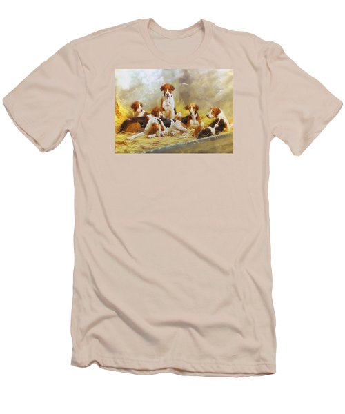 Men's T-Shirt (Slim Fit) featuring the digital art Fox Hounds by Charmaine Zoe
