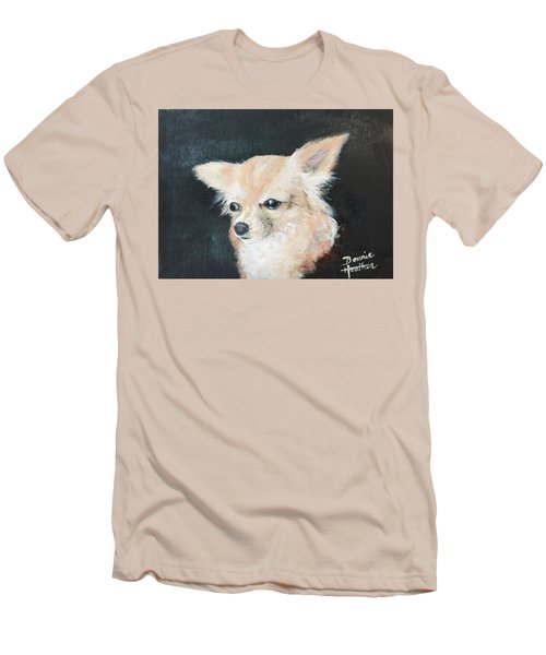 Men's T-Shirt (Slim Fit) featuring the painting Foxy Lady  by Bonnie Heather