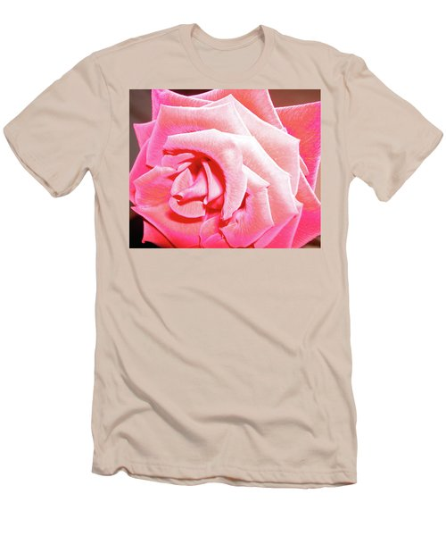 Men's T-Shirt (Slim Fit) featuring the photograph Fragrant Rose by Marie Hicks