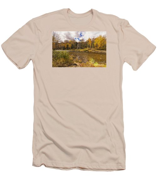 Men's T-Shirt (Slim Fit) featuring the photograph Franconia Iron Works by Anthony Baatz