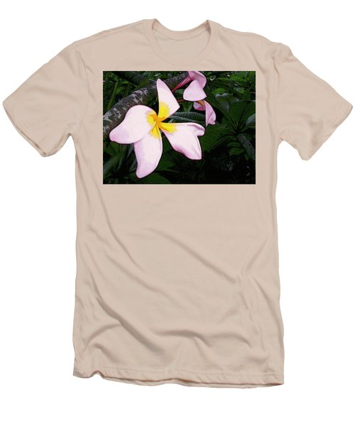 Men's T-Shirt (Athletic Fit) featuring the digital art Frangipani Moment by Winsome Gunning