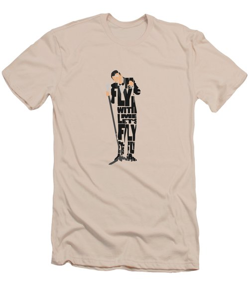 Frank Sinatra Typography Art Men's T-Shirt (Athletic Fit)