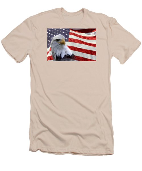 Freedom Men's T-Shirt (Slim Fit) by Ann Bridges