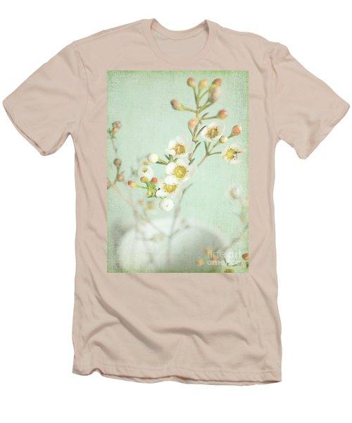 Freesia Blossom Men's T-Shirt (Slim Fit) by Lyn Randle