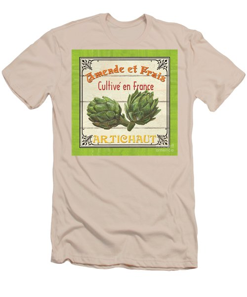 French Vegetable Sign 2 Men's T-Shirt (Slim Fit) by Debbie DeWitt