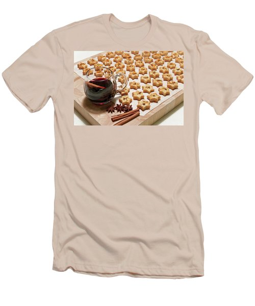 Freshly Baked Cheese Cookies And Hot Wine Men's T-Shirt (Slim Fit) by GoodMood Art