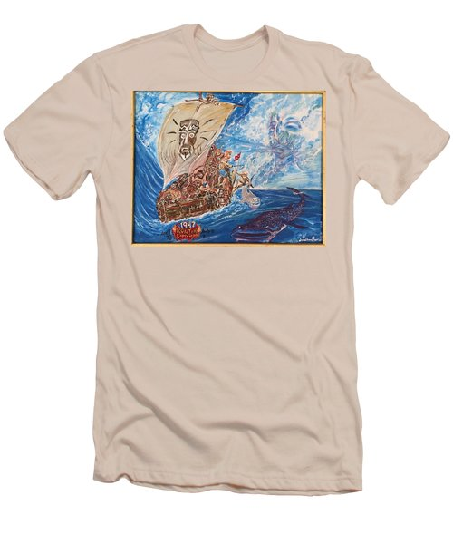 Friggin In The Riggin - Kon Tiki Expedition Men's T-Shirt (Athletic Fit)
