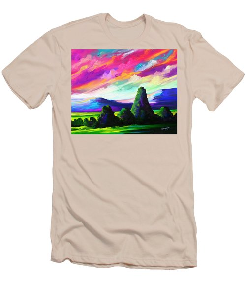 Men's T-Shirt (Slim Fit) featuring the painting From A Distance by Anthony Mwangi