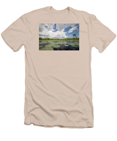 From A Frog's Point Of View - Lake Okeechobee Men's T-Shirt (Slim Fit) by Christopher L Thomley