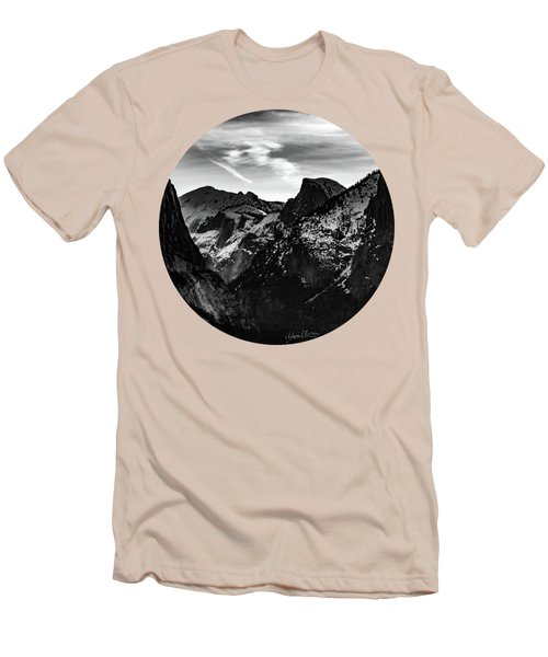 Frozen, Black And White Men's T-Shirt (Athletic Fit)