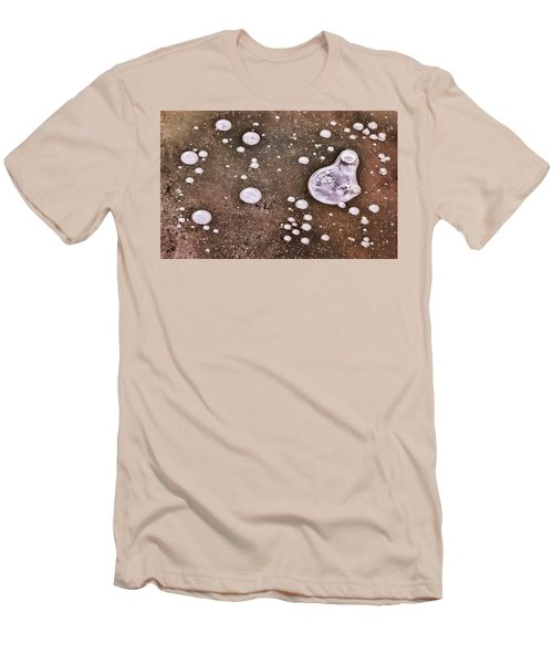 Men's T-Shirt (Athletic Fit) featuring the photograph Frozen Water Drops Abstract by Gary Slawsky