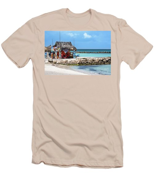 Men's T-Shirt (Slim Fit) featuring the photograph Fun In The Sun by Judy Wolinsky