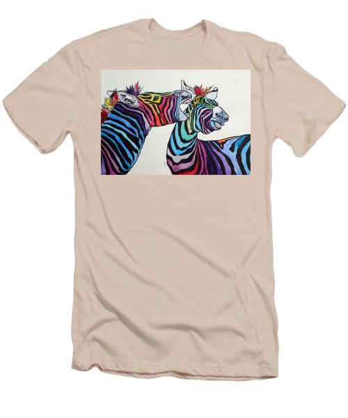Funny Zebras Men's T-Shirt (Athletic Fit)