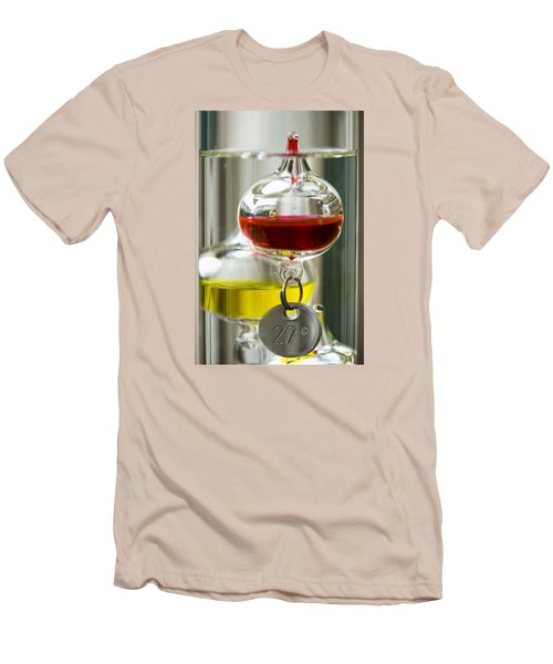 Men's T-Shirt (Slim Fit) featuring the photograph Galileo Thermometer by Jeremy Lavender Photography