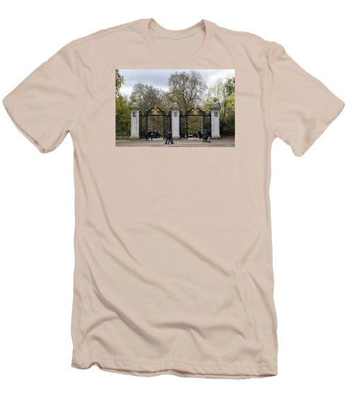 Gates To St James Park Men's T-Shirt (Slim Fit) by Shirley Mitchell