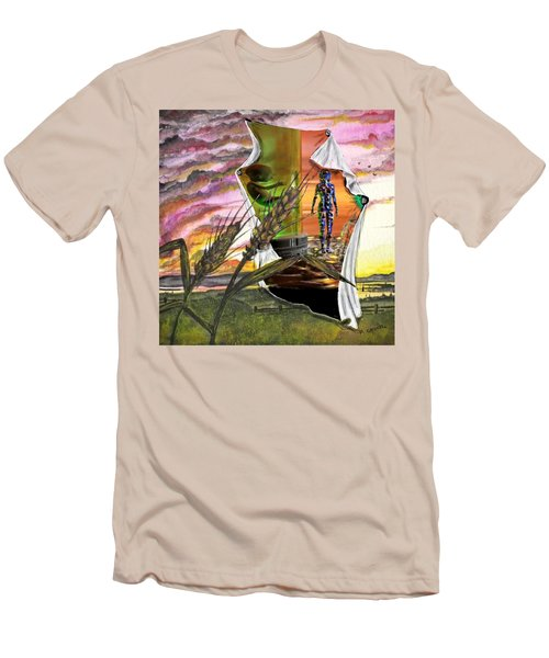 Men's T-Shirt (Athletic Fit) featuring the digital art Genetically Modified by Darren Cannell