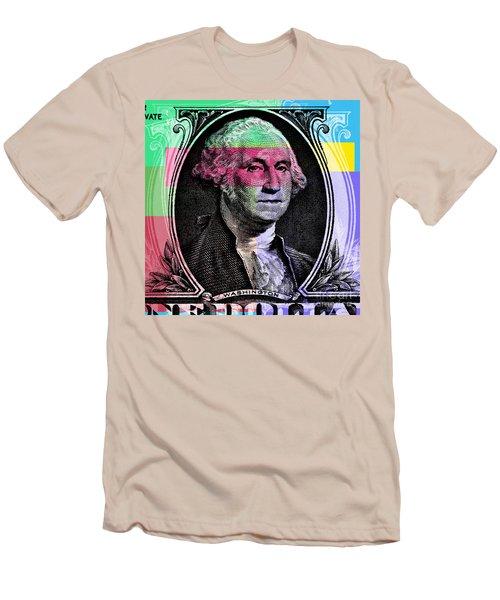 George Washington Pop Art Men's T-Shirt (Athletic Fit)