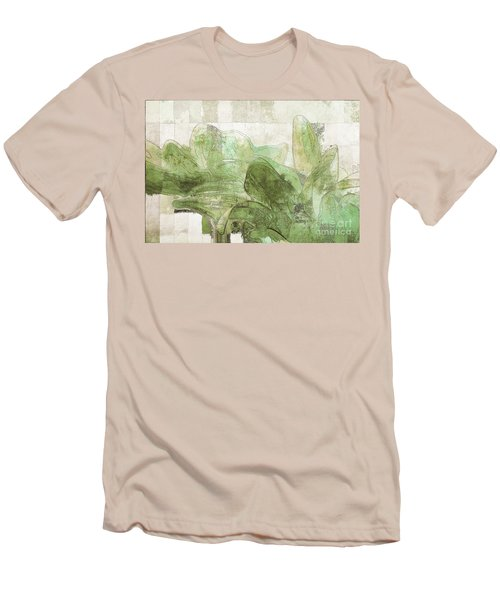 Men's T-Shirt (Slim Fit) featuring the digital art Gerberie - 30gr by Variance Collections