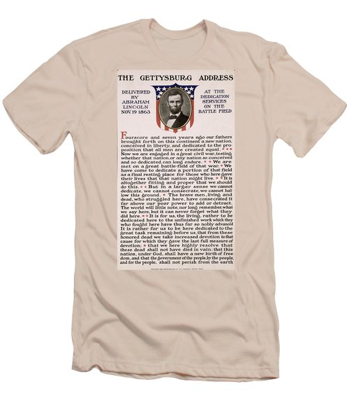 Gettysburg Address Men's T-Shirt (Athletic Fit)