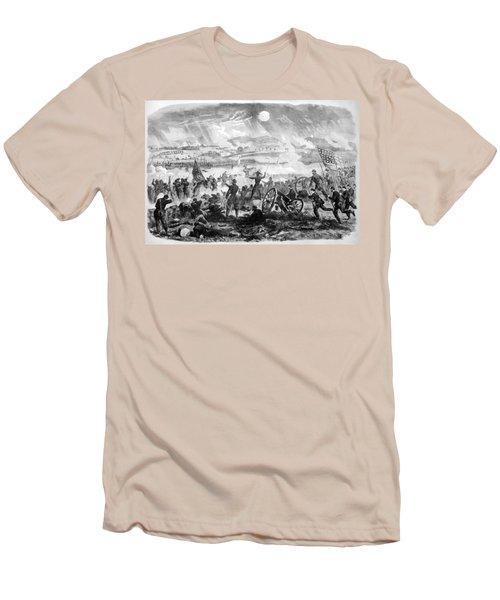 Gettysburg Battle Scene Men's T-Shirt (Athletic Fit)