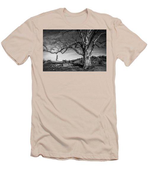 Gettysburg Below Little Round Top Men's T-Shirt (Slim Fit)