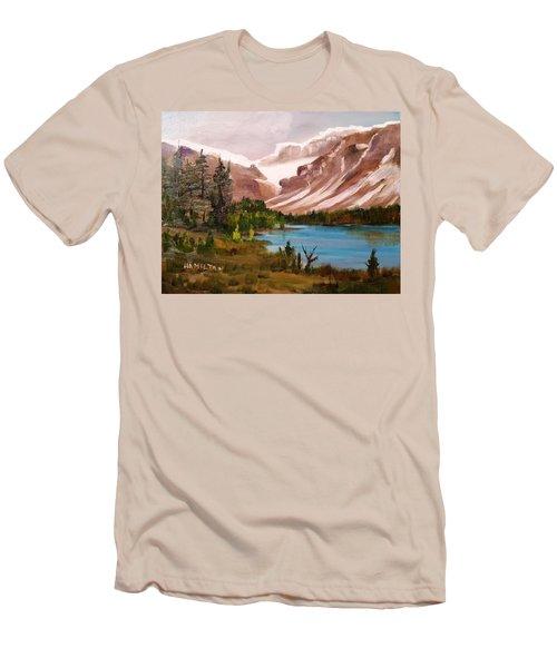 Glacier Lake Men's T-Shirt (Slim Fit) by Larry Hamilton