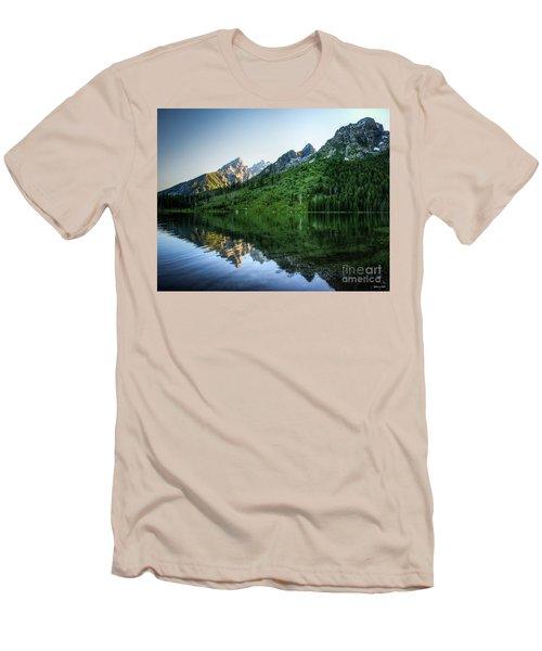 Glacier Lake Men's T-Shirt (Slim Fit) by Rebecca Hiatt