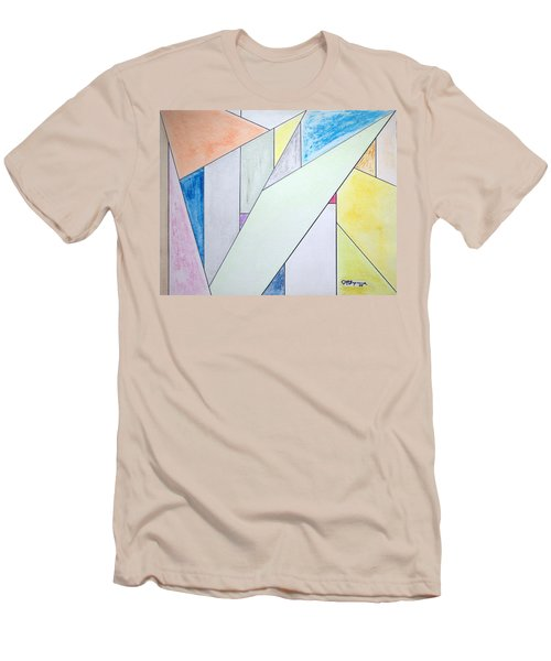 Men's T-Shirt (Slim Fit) featuring the mixed media Glass-scrapers by J R Seymour