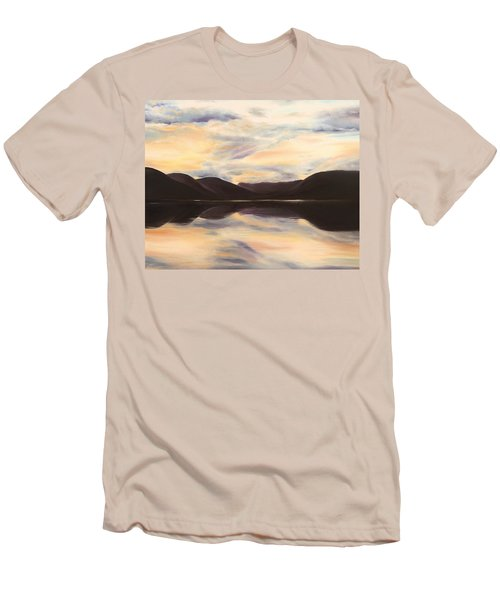 Men's T-Shirt (Athletic Fit) featuring the painting Glencoe by Elizabeth Lock