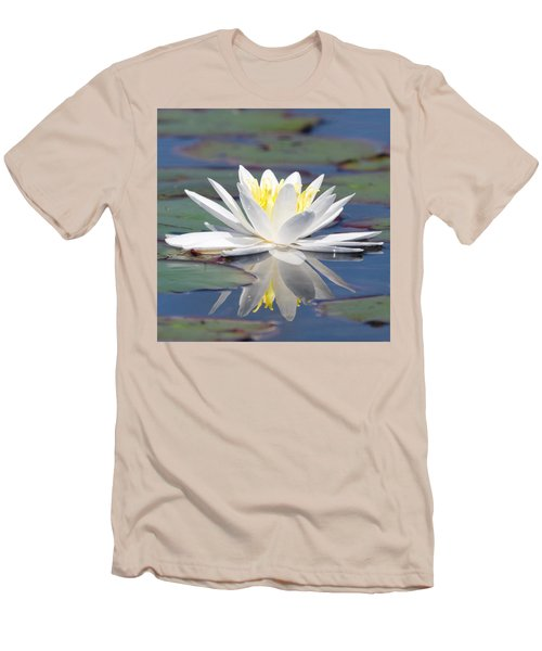 Glorious White Water Lily Men's T-Shirt (Athletic Fit)