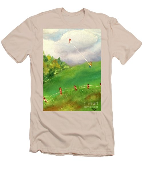 Men's T-Shirt (Athletic Fit) featuring the painting Go Fly A Kite by Denise Tomasura