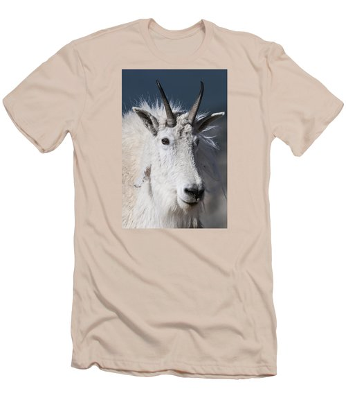 Goat Portrait Men's T-Shirt (Slim Fit) by Gary Lengyel