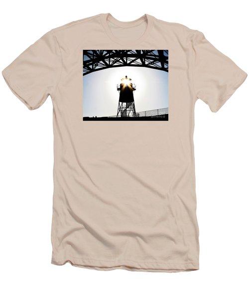 Golden Gate Above Fort Point Men's T-Shirt (Slim Fit) by John King