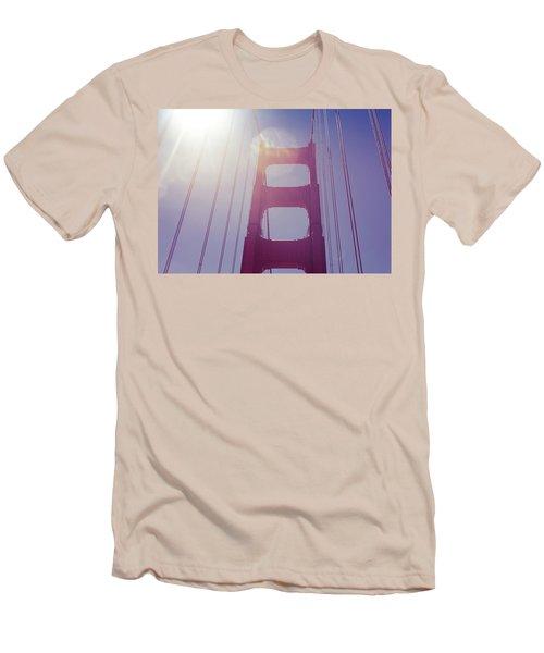 Golden Gate Bridge The Iconic Landmark Of San Francisco Men's T-Shirt (Slim Fit) by Jingjits Photography