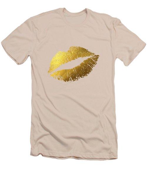 Gold Lips Men's T-Shirt (Slim Fit) by BONB Creative