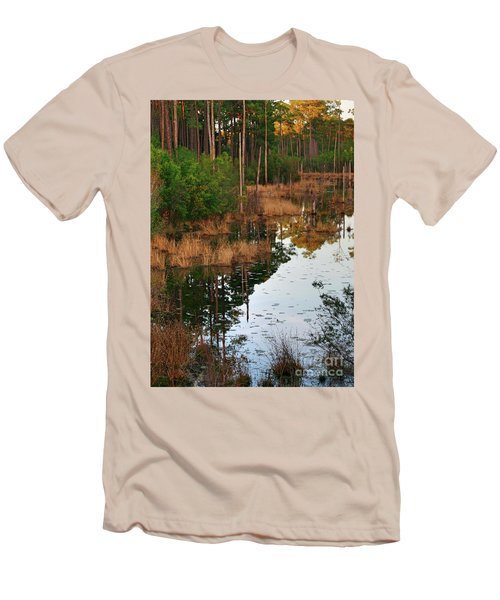 Men's T-Shirt (Athletic Fit) featuring the photograph Golden Pond by Lori Mellen-Pagliaro