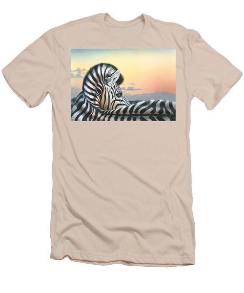 Men's T-Shirt (Slim Fit) featuring the painting Golden Sky by Mike Brown