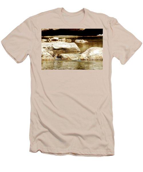 Golden Stream Men's T-Shirt (Slim Fit) by Nancy Landry