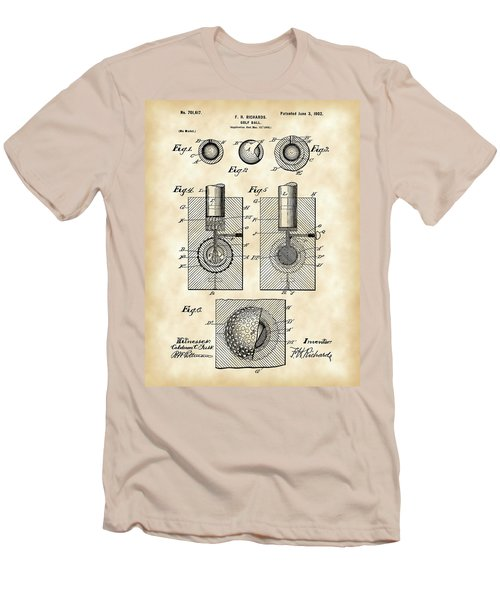 Golf Ball Patent 1902 - Vintage Men's T-Shirt (Athletic Fit)