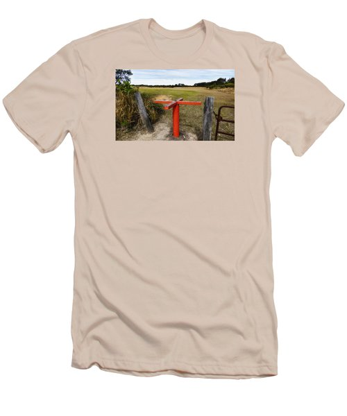 Men's T-Shirt (Slim Fit) featuring the photograph Golf Range 01 by Kevin Chippindall