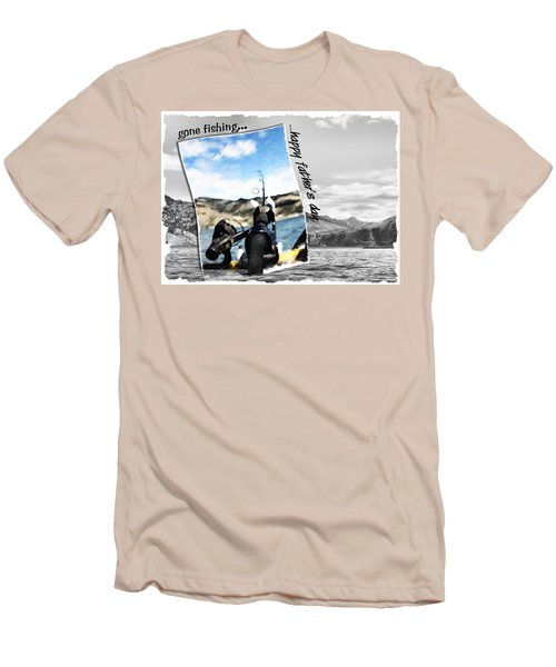 Gone Fishing Father's Day Card Men's T-Shirt (Athletic Fit)