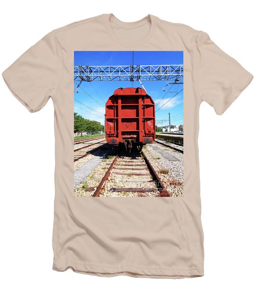 Goods Wagon Men's T-Shirt (Slim Fit) by Don Pedro De Gracia
