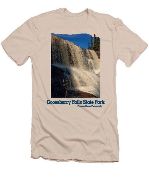 Gooseberry Falls Men's T-Shirt (Slim Fit) by James Peterson
