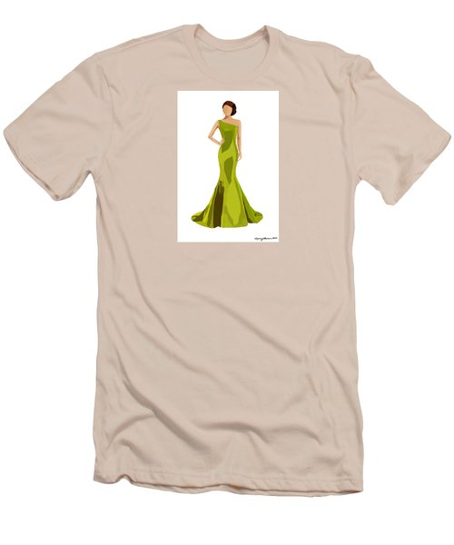 Men's T-Shirt (Slim Fit) featuring the digital art Grace by Nancy Levan