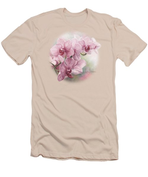 Graceful Orchids Men's T-Shirt (Slim Fit) by Lucie Bilodeau