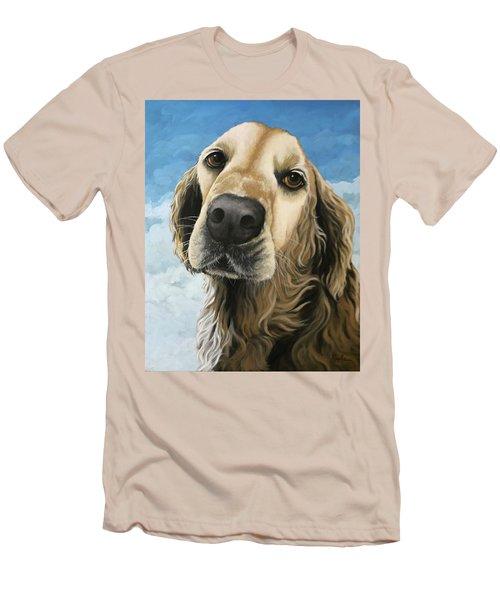 Gracie - Golden Retriever Dog Portrait Men's T-Shirt (Athletic Fit)